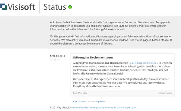 Status-Seite