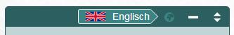 Sprachumschaltung in der Iconleiste im Tab-Chat