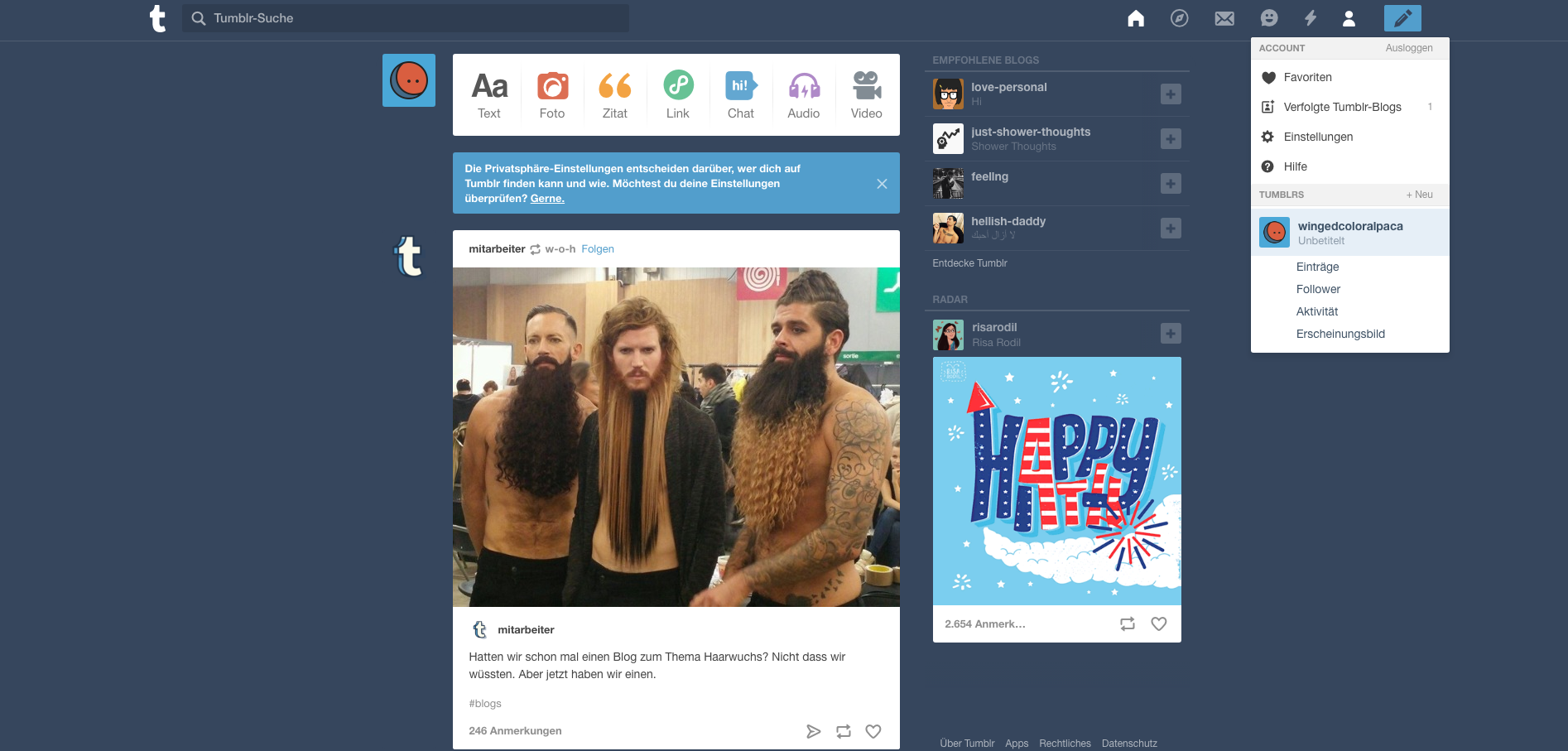 Einbindung des yalst Live Chats in Tumblr   yalst   Live Support ...