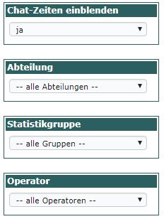 Filter für die Arbeitszeitstatistiken