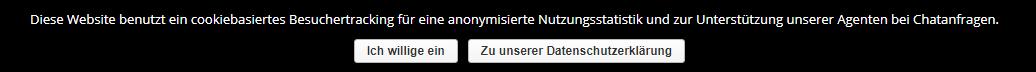 Datenschutz-Grundverordnung (EU-DSGVO) im yalst Live Chat - Trackingeinwilligung