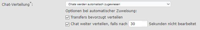 Automatische Chatverteilung